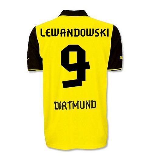sale retailer 2ea3b 28ed6 2013-14 Borussia Dortmund UCL Shirt (Lewandowski 9) - Kids