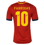 2013-14 Spain Home Shirt (Fabregas 10)