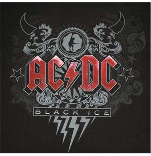 4fdb0450faca Official ACDC Black Ice Red Logo Tee Shirt: Buy Online on Offer