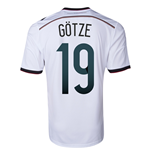 2014-15 Germany World Cup Home Shirt (Gotze 19) - Kids