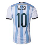 2014-15 Argentina World Cup Home Shirt (Messi 10)