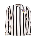 Dunfermline Athletic FC 1960's Long Sleeve Retro Shirt 100% cotton