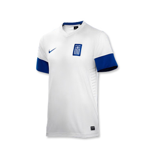 reputable site 4f9d3 105fe 2013-14 Greece Home Nike Football Shirt