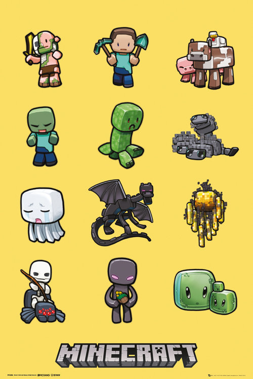 Minecraft Characters Maxi Poster