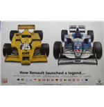 "F1 Memorabilia Renault F1 Poster ""How Renault Launched A Legend"""
