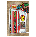 Marvel Comics 5-Piece Stationery Set Montage Retro