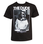 The Big Lebowski Black The Dude Photo T-Shirt