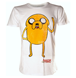 ADVENTURE TIME Jake Waving Large T-Shirt, White