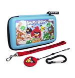 ANGRY BIRDS 3D Gamer Carry Case Set For Nintendo DSi/3DS (4PC), Blue