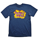 BUBBLE BOBBLE Vintage Logo Small T-Shirt, Blue