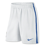 2014-15 Brazil Nike Away Shorts (White) - Kids