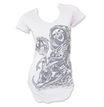 SONS OF ANARCHY U Neck White Reaper Women's Tee