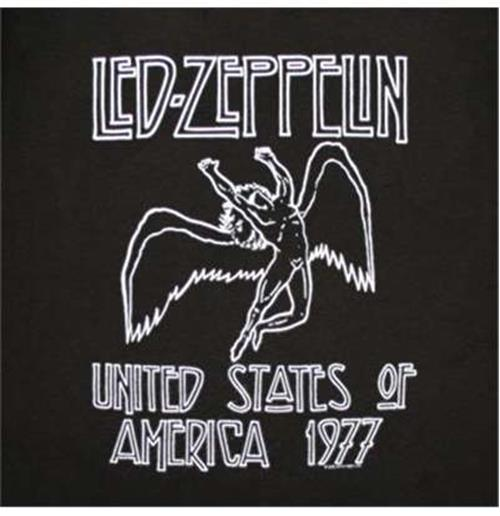 6e326f5caaed7 Official Led Zeppelin Tour 1977 USA Tee Shirt  Buy Online on Offer