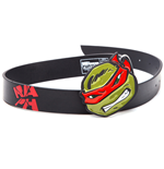TEENAGE MUTANT NINJA TURTLES (TMNT) Black Belt with Raph Red 2D Buckle, 85CM