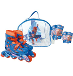 THE AMAZING SPIDER-MAN Inline Roller Skates Set (30 - 33) (Bag, Skates, Knee/Elbow Protective Pads)