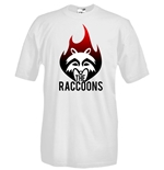 Round necked t-shirt with flex printing - The Raccoons