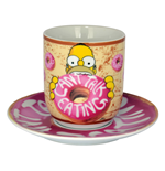 Simpsons Mug with Saucer Can´t Talk Eating