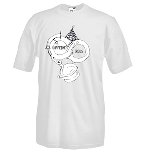 Round necked t-shirt with flex printing - Caffeine Circus
