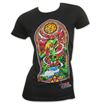 Nintendo The LEGEND OF ZELDA Wind Waker Women's Stained Glass Tee Shirt