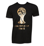 FIFA WORLD CUP Black And Gold Soccer T-Shirt