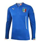 2014-15 Italy Home World Cup Long Sleeve Shirt