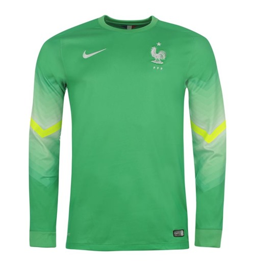 competitive price c8c6f c6995 2014-15 France Home World Cup Goalkeeper Shirt (Green)