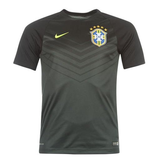 2014-15 Brazil Nike Pre-Match Training Shirt (Black)