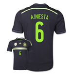 2014-15 Spain Away World Cup Shirt (A.Iniesta 6) - Kids