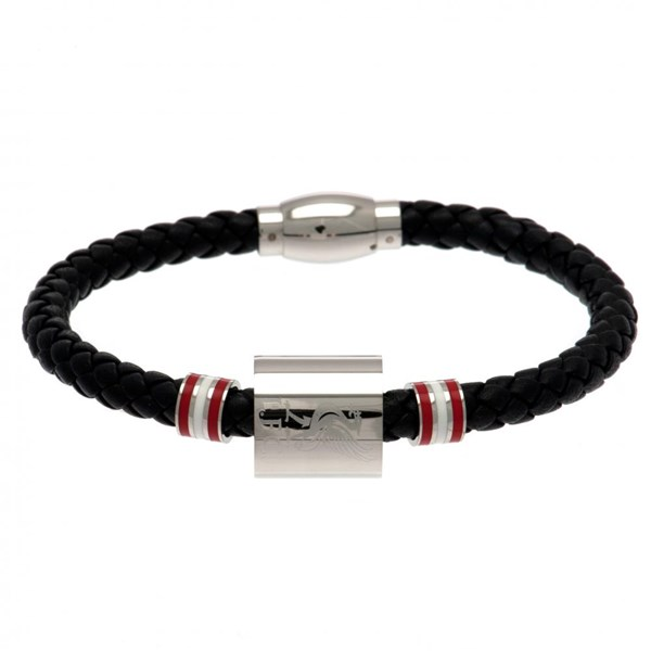 Liverpool F.C. Colour Ring Leather Bracelet