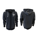JACK DANIEL'S Classic Old No. 7 Extra Large Hoodie with Full Length Front Zipper, Grey