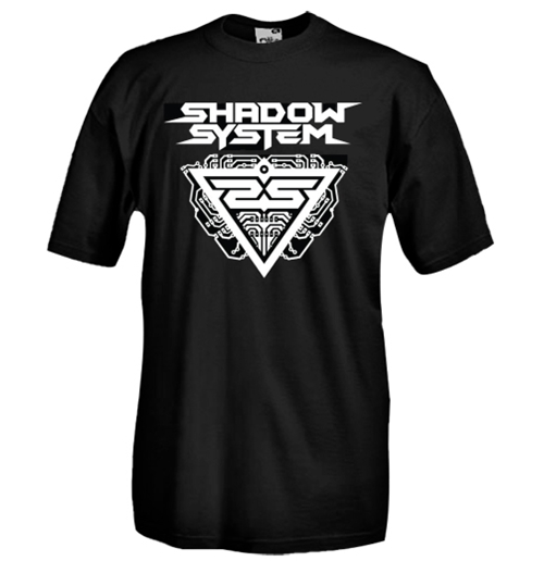 Round necked t-shirt with flex printing - Shadow System