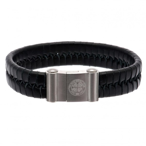 Celtic F.C. Single Plait Leather Bracelet