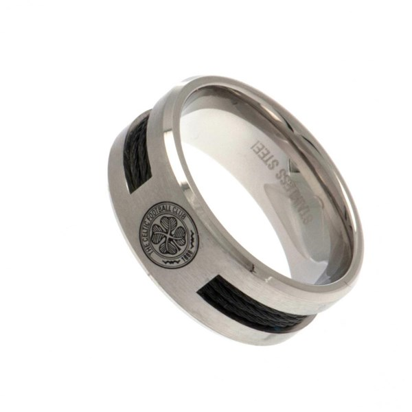 Celtic F.C. Black Inlay Ring Medium