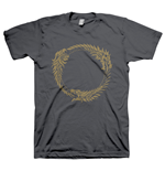 THE ELDER SCROLLS ONLINE Ouroboros Symbol Small T-Shirt, Dark Grey