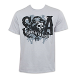 SONS OF ANARCHY Silver SOA Reaper Tee Shirt