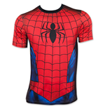 Spider-Man Sublimated Men's Athletic Costume Tee Shirt