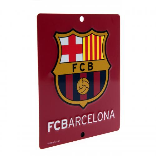 Official F C Barcelona Window Sign Sq Buy Online On Offer