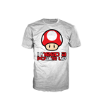 NINTENDO SUPER MARIO BROS. Red Mushroom I Need A Power Up Mushroom Men's Extra Large T-Shirt, White