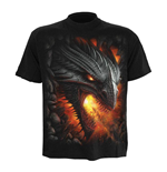 SPIRAL Rock Guardian T-Shirt, Short Sleeve, Adult Male, Medium, Black