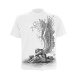 SPIRAL Enslaved Angel T-Shirt, Short Sleeve, Adult Male, Large, White