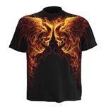 SPIRAL Burn In Hell All-Over T-Shirt, Short Sleeve, Adult Male, Extra Large, Black