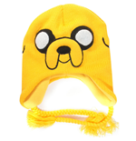 ADVENTURE TIME Jake Acrylic Beanie Hat with Braided Ties, Yellow