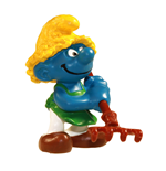 The Smurfs Figure Gardener Smurf with rake 6 cm Case (6)