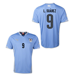 2014-15 Uruguay World Cup Home Shirt (L.Suarez 9) - Kids