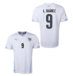2014-15 Uruguay World Cup Away Shirt (L.Suarez 9) - Kids