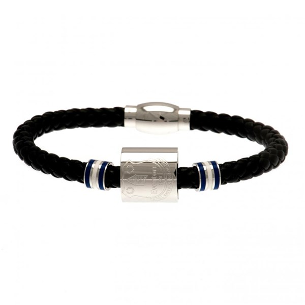 Everton F.C. Colour Ring Leather Bracelet