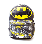 DC COMICS BATMAN Big Logo with Comic Artwork Backpack, Black/Yellow