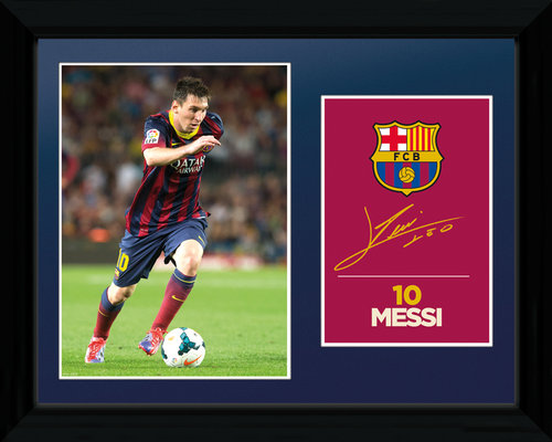 Barcelona Messi 13/14 Framed Photo