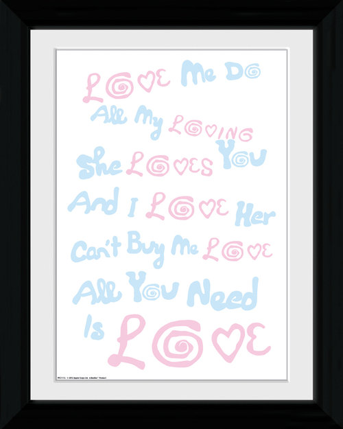 The Beatles Lyrics Collector Print