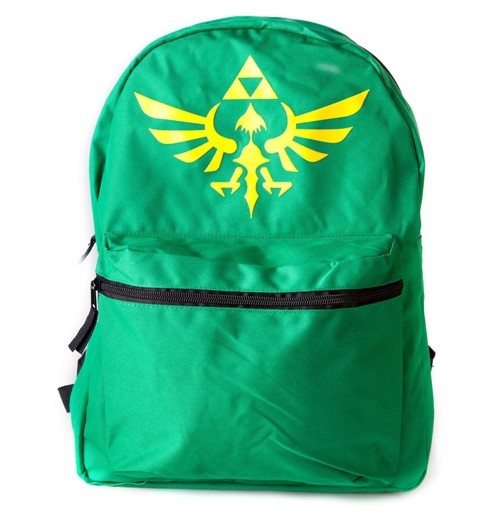 NINTENDO LEGEND OF ZELDA Reversible Backpack, Green and Black